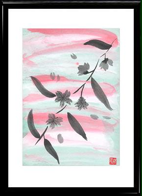 Японская живопись тушью суми э